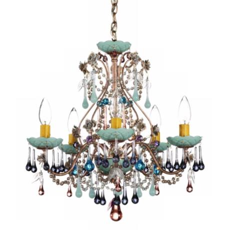 Schonbek Rose Mint Julep Crystal Chandelier