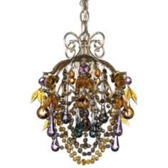 Rose 1-Light Midsummer Antique Silver Chandelier