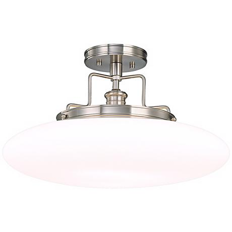 "Beacon Polished Nickel Finish 18"" Wide Ceiling Light"