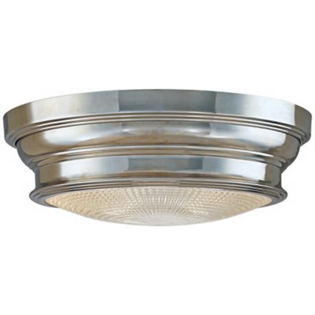 "Woodstock Polished Nickel Finish 13"" Wide Ceiling Light"