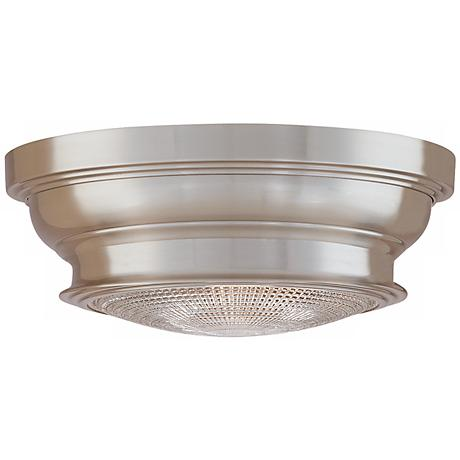 "Woodstock Satin Nickel Finish 9"" Wide Ceiling Light"