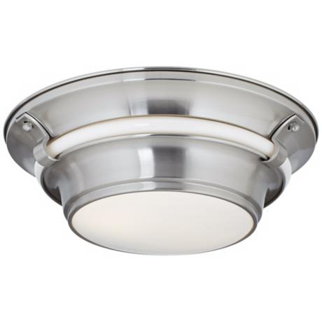 "Ashland Satin Nickel 14 1/4"" Wide Flushmount Ceiling Light"