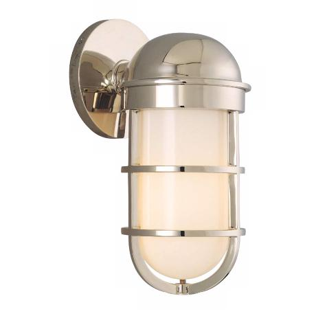 "Groton Polished Nickel 10 1/2"" High Wall Sconce"