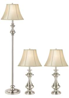 Set of 3 Kathy Ireland Broadway Collection Lamps