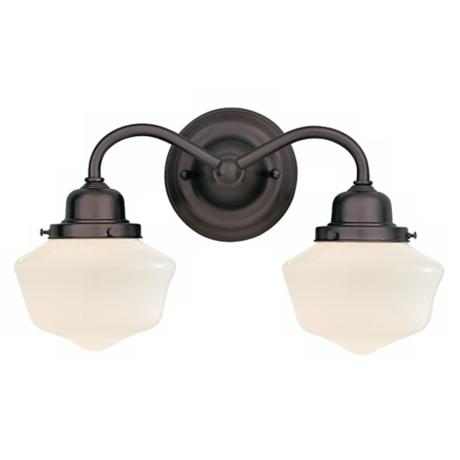 "Dawson Collection Old Bronze 16"" Wide Bath Light"