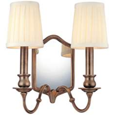 "Endicott Old Nickel 2-Light 11 1/2"" High Wall Sconce"