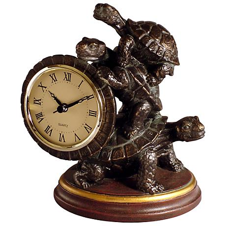 "Turtle 8"" High Tabletop Clock"