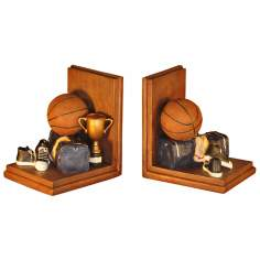 Set of 2 Basketball Bookends