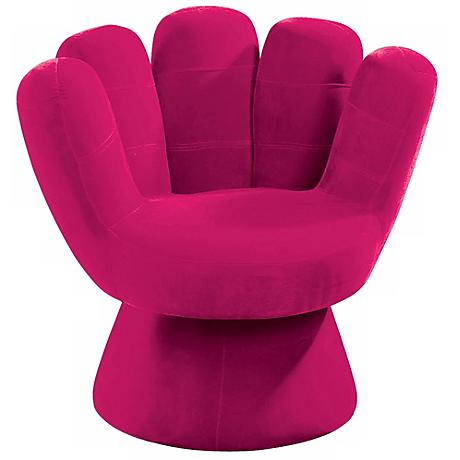 Hot Pink Mitt Chair