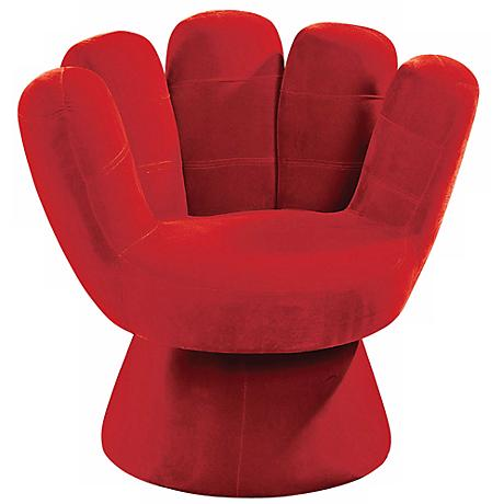 Red Mitt Upholstered Children's Chair