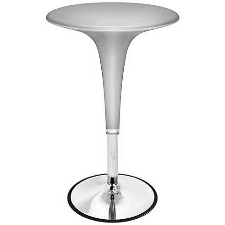 Metallic Silver Adjustable Gelato Bar Table