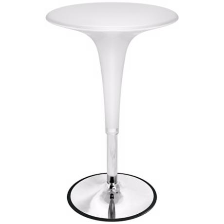 White Adjustable Gelato Bar Table
