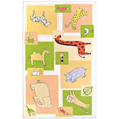 Animal Patches Area Rug