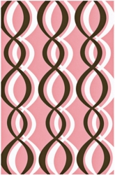 Soundwaves Pink Area Rug