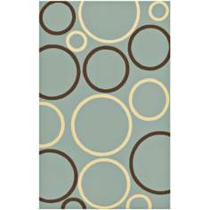 Air Bubbles Blue Area Rug