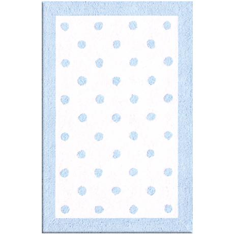 Polka Spots Light Blue Area Rug