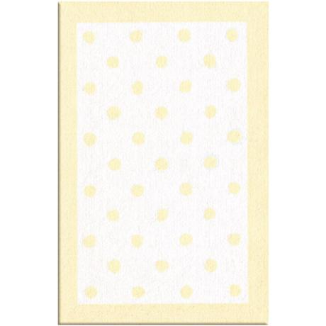 Polka Spots Light Yellow Area Rug