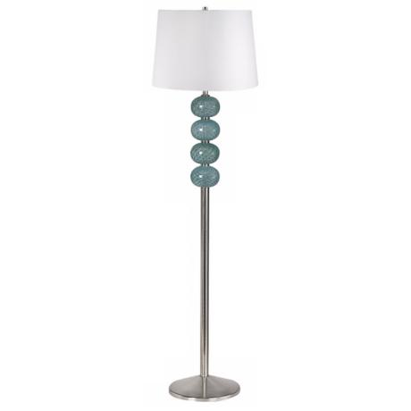 Aqua Glass Orb Floor Lamp