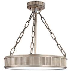 "Middlebury Historic Nickel Finish 15 1/2"" Wide Ceiling Light"