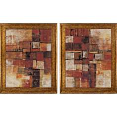 Set of 2 Urban Walk Wall Art Prints