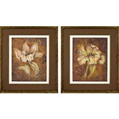 Set of 2 Study in Ecru Wall Art Prints