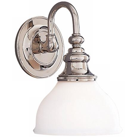 "Sutton 10 1/4"" High  Polished Nickel Wall Sconce"