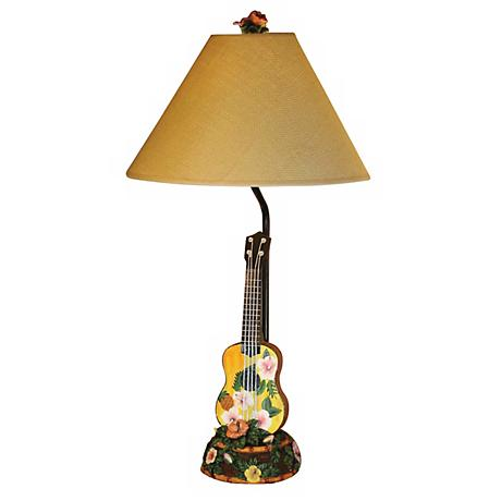 Hawaiian Ukulele Table Lamp