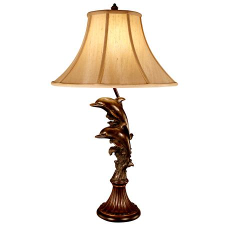 Leaping Dolphins Table Lamp