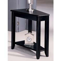 Beck Black Chairside Table
