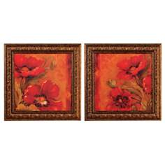 Red Bouquet Set of Two Wall Art Prints