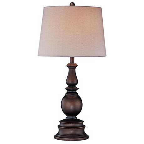 Lite Source Bronze Traditional Turned Table Lamp