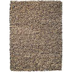 Lombardi Camel-Brown Shag Area Rug