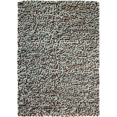 Lombardi Brown-Blue Shag Area Rug
