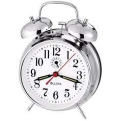 Bulova Bellman Chrome Alarm Clock