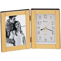 "Bulova Photo 9"" Wide Frame Clock"