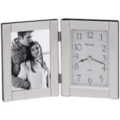 Bulova Forte Photo Frame Clock