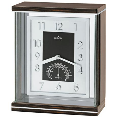 Bulova Reverie Thermometer Table Clock