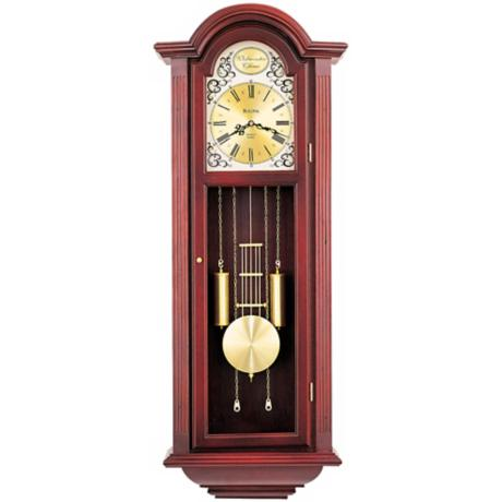 "Bulova Mahogany Tatianna 40"" High Wall Clock"