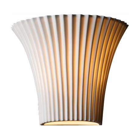 "Limoges Collection Flared Pleated 8 1/4"" Wide  Wall Sconce"