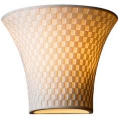 "Limoges Collection Checkerboard 6 3/4"" High Wall Sconce"