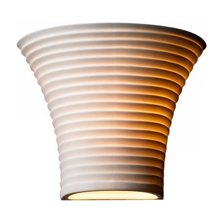 "Limoges Collection Flared Sawtooth 6 3/4"" High Wall Sconce"