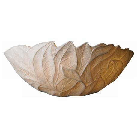 "Limoges Collection Leaves 12 3/4"" Wide Pocket Wall Sconce"