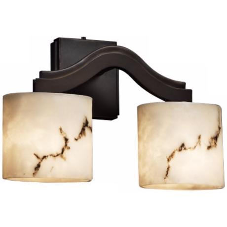 "LumenAria Collection Bend 10 3/4"" High 2-Light Wall Sconce"