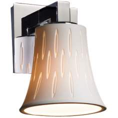 "Limoges Collection 7 1/2"" High Ovals Wall Sconce"