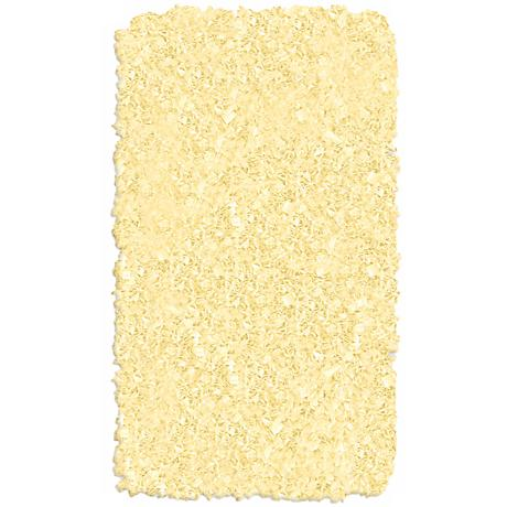 Raganoodle Yellow Shag Area Rug