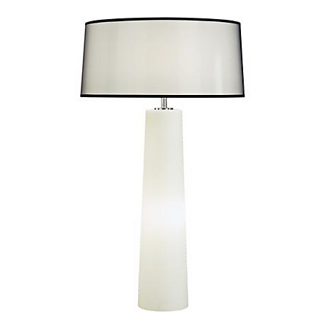 Robert Abbey Odelia White Glass Night Light Table Lamp