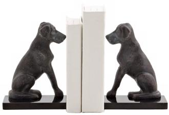 Harley the Dog Iron Bookends at LAMPS PLUS