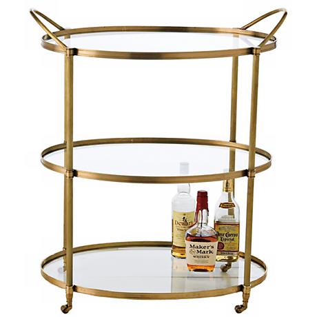 Connaught Antique Bronze Bar Cart