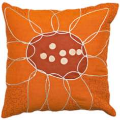 Abstract Floral Puzzle  Pillow