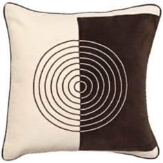 Ecru Chocolate Split  Pillow